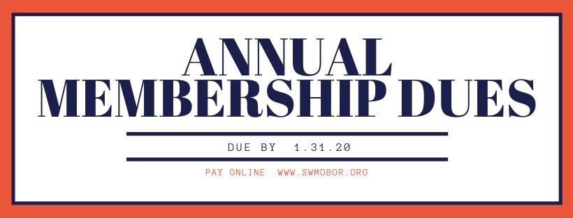 2020 Annual Membership Dues